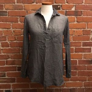 Cloth & Stone Anthropologie Gray Tencel Shirt XS